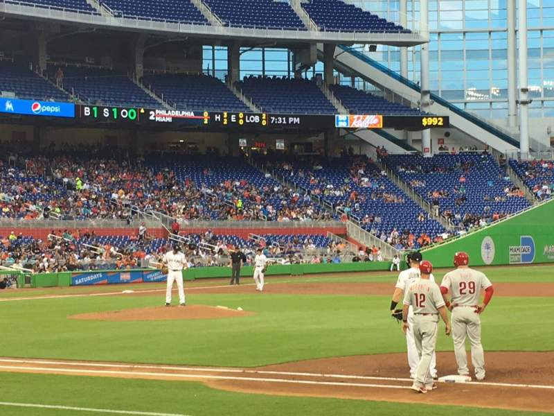 Seating view for Marlins Park Section 7 Row C Seat 18