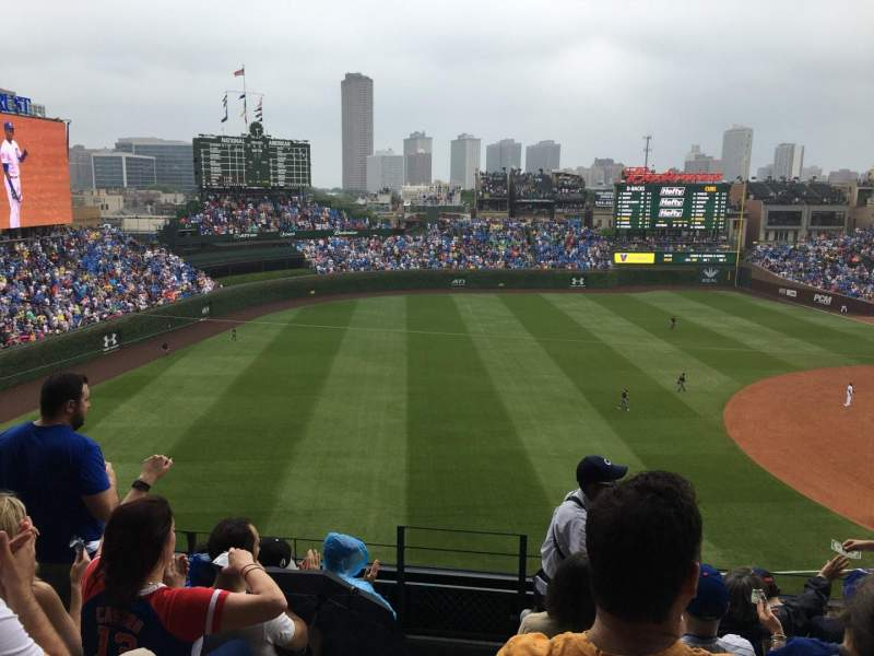 Seating view for Wrigley Field Section 407 Row 7 Seat 1