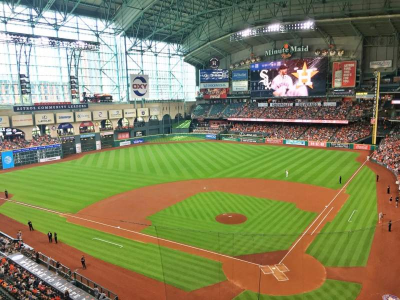 Seating view for Minute Maid Park Section 317 Row 1 Seat 7