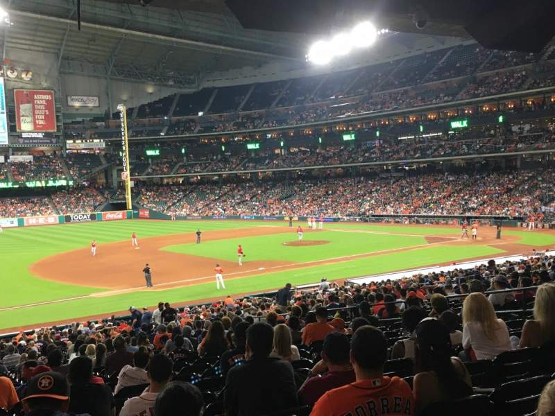 Seating view for Minute Maid Park Section 110 Row 39 Seat 7