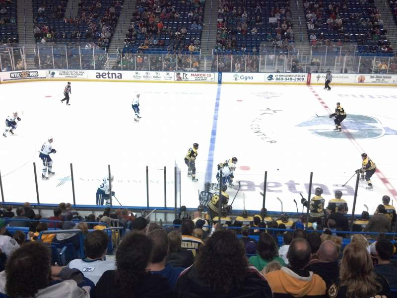 Seating view for XL Center Section 105 Row T Seat 14
