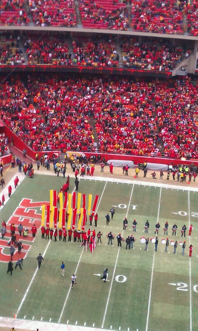 Seating view for Arrowhead Stadium Section 305