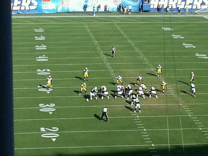 Seating view for Qualcomm Stadium Section press 20 Row 1 Seat 2