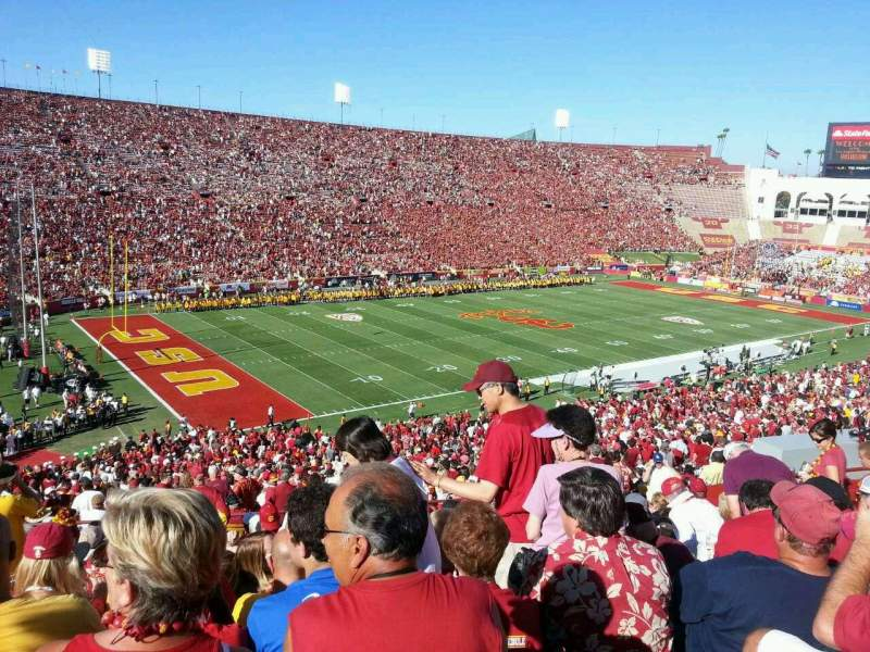 Seating view for Los Angeles Memorial Coliseum Section 10 Row 58 Seat 18