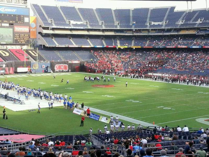 Seating view for Qualcomm Stadium Section P15 Row 21 Seat 5