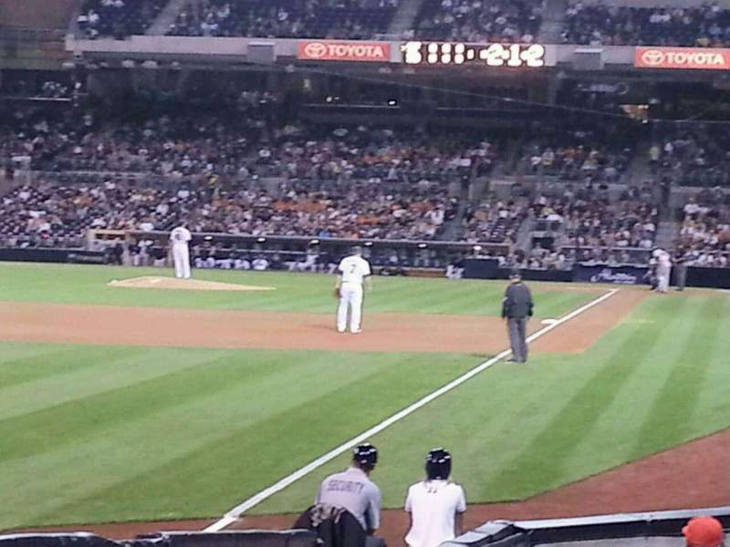 Seating view for PETCO Park Section 124 Row 16 Seat 6