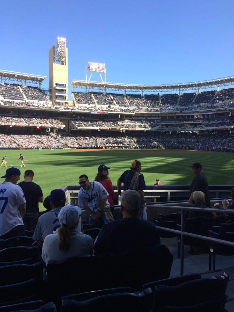 Seating view for Petco Park Section 134 Row 7 Seat 3