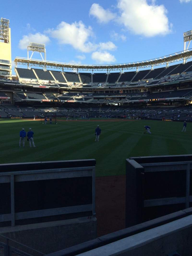 Seating view for Petco Park Section 134 Row 3 Seat 6