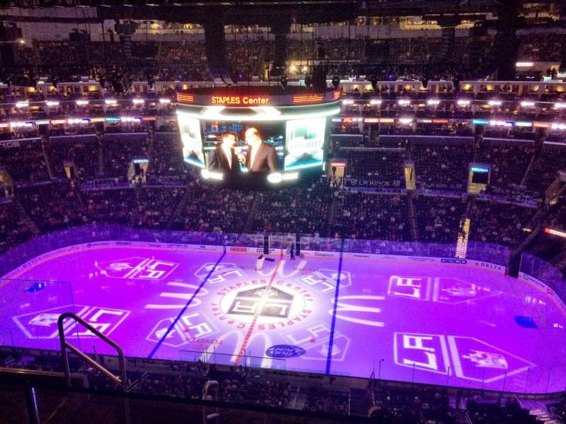 Seating view for Staples Center Section 334 Row 6 Seat 17