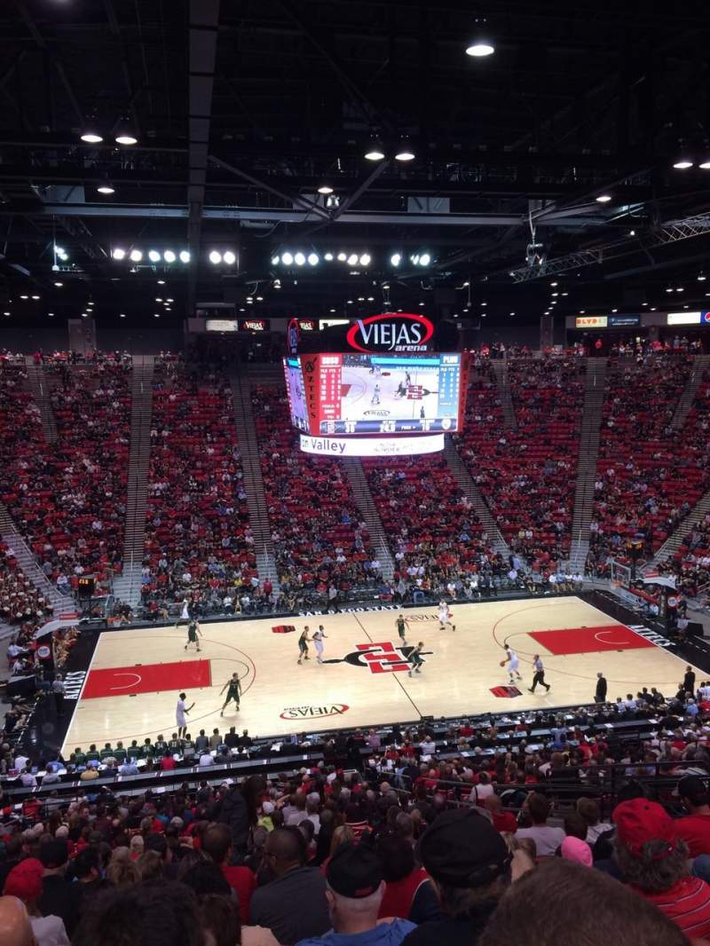 Seating view for Viejas Arena Section P Row 33 Seat 12