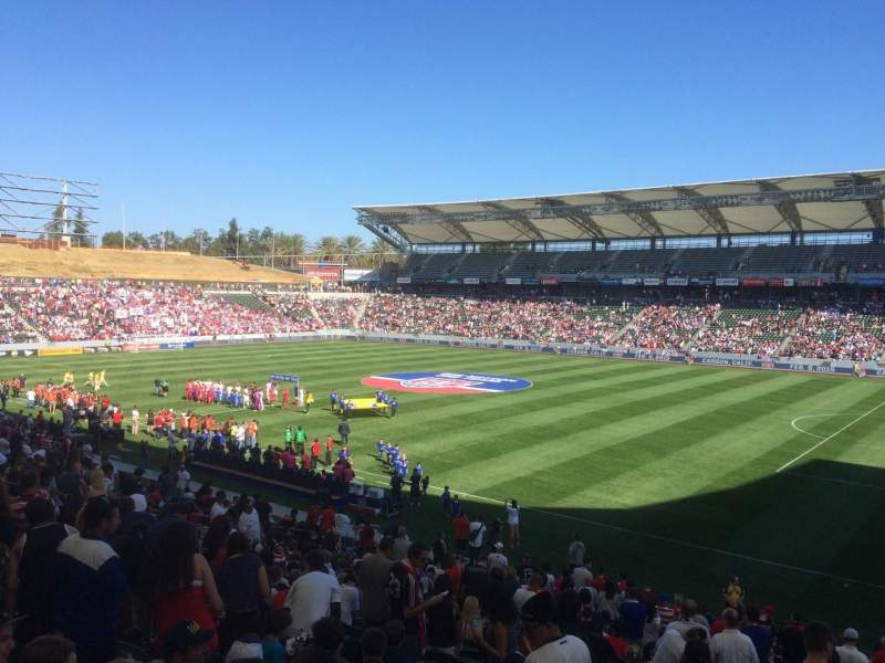 Seating view for StubHub Center Section 107 Row Z Seat 21