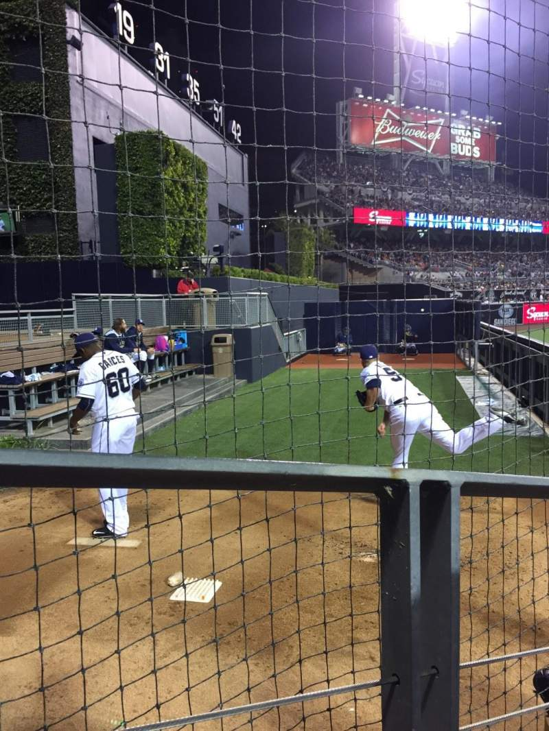 Seating view for PETCO Park Section 134 Row 4 Seat 11