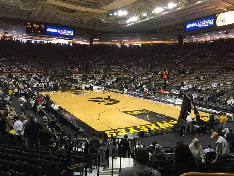 Seating view for Carver-Hawkeye Arena Section II Row 14 Seat 11