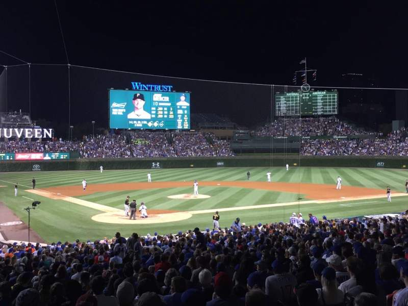 Seating view for Wrigley Field Section 223 Row 3 Seat 1
