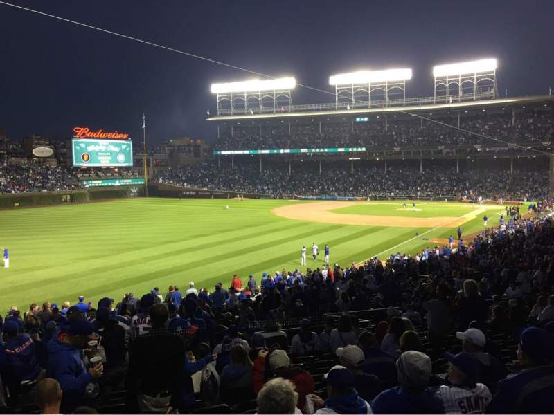 Seating view for Wrigley Field Section 203 Row 15 Seat 1