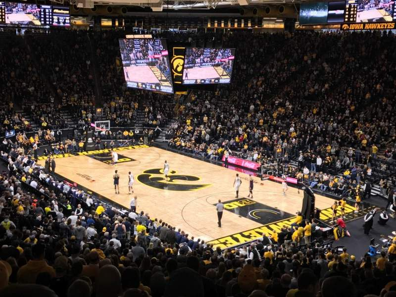 Seating view for Carver-Hawkeye Arena Section E Row 32 Seat 5