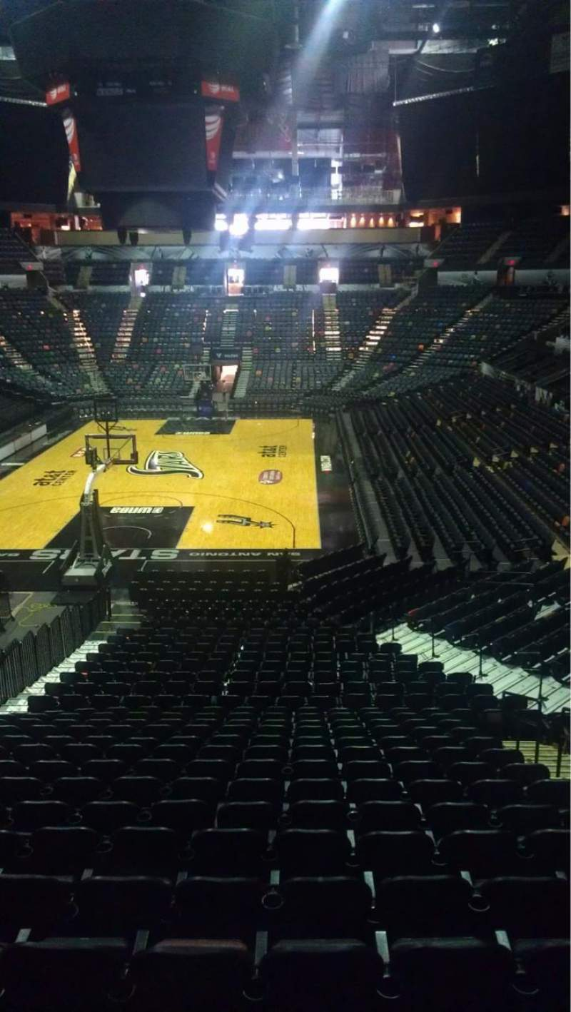 Seating view for AT&T Center Section 128 Row 32 Seat 10