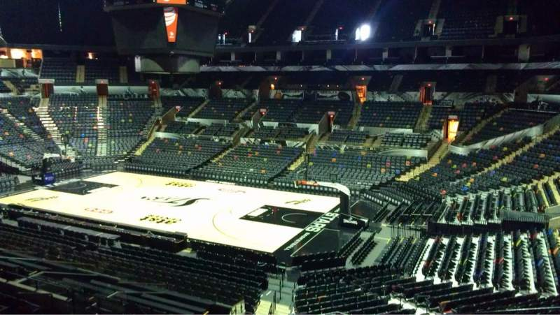 Seating view for AT&T Center Section 104 Row 28 Seat 5