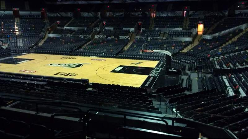 Seating view for AT&T Center Section 105 Row 24 Seat 11