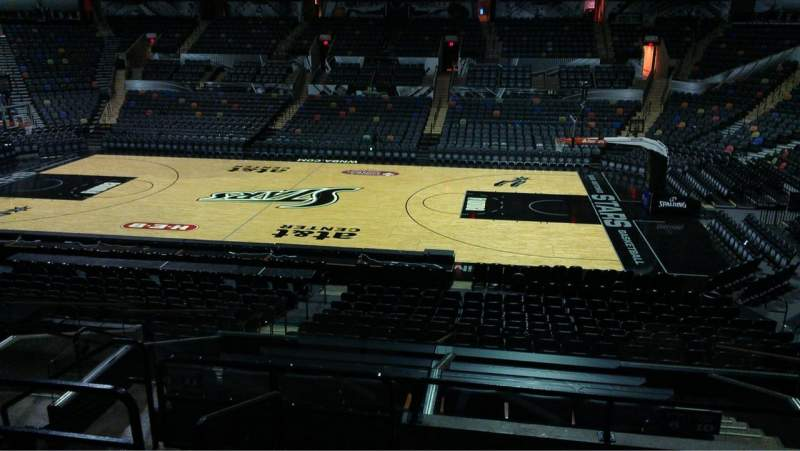 Seating view for AT&T Center Section 106 Row 28 Seat 10