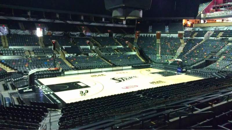 Seating view for AT&T Center Section 124 Row 25 Seat 3