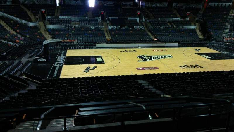 Seating view for AT&T Center Section 123 Row 22 Seat 7