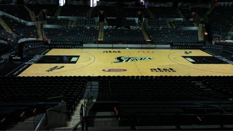 Seating view for AT&T Center Section 122 Row 22 Seat 5