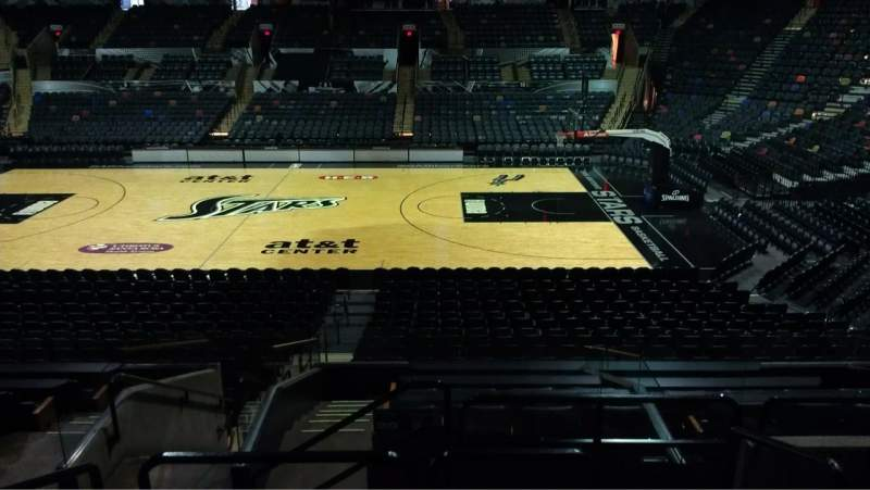 Seating view for AT&T Center Section 120 Row 22 Seat 4
