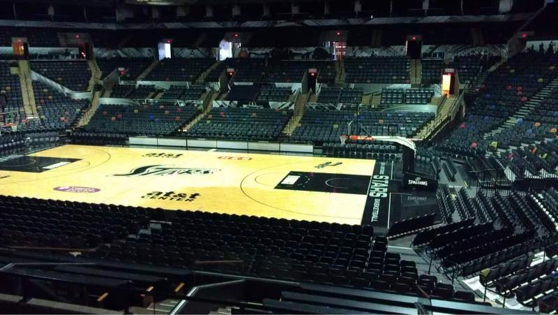 Seating view for AT&T Center Section 119 Row 22 Seat 7