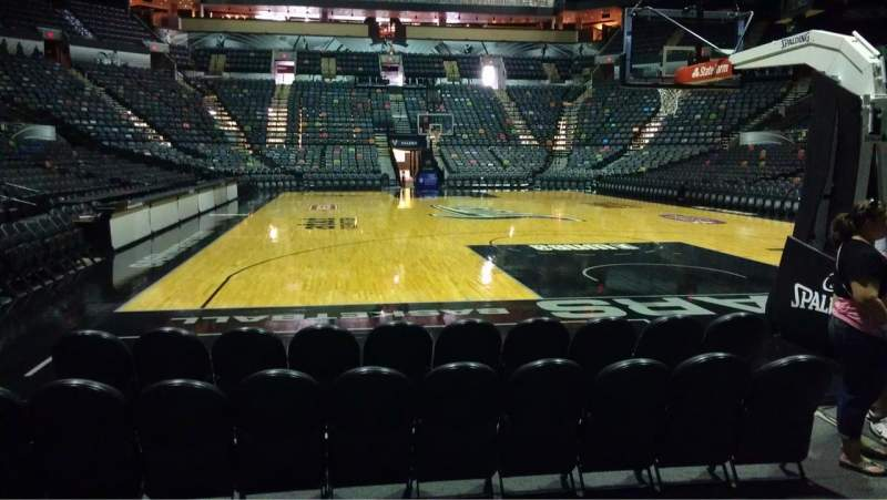 Seating view for AT&T Center Section 128 Row 5 Seat 5
