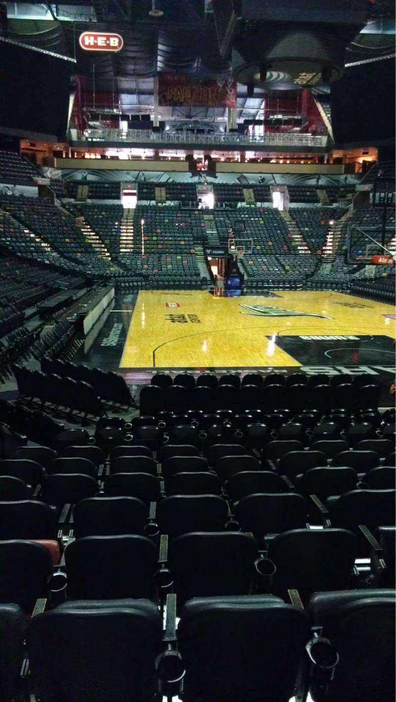 Seating view for AT&T Center Section 128 Row 14 Seat 7