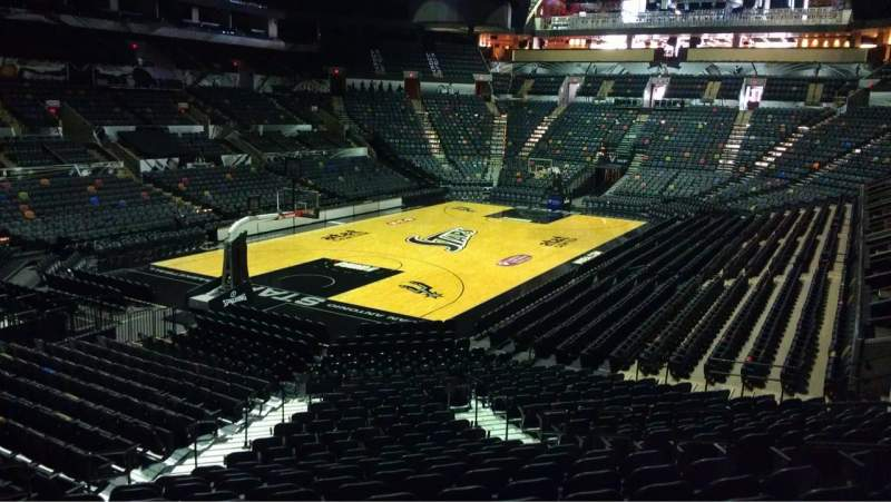 Seating view for AT&T Center Section 127 Row 28 Seat 6