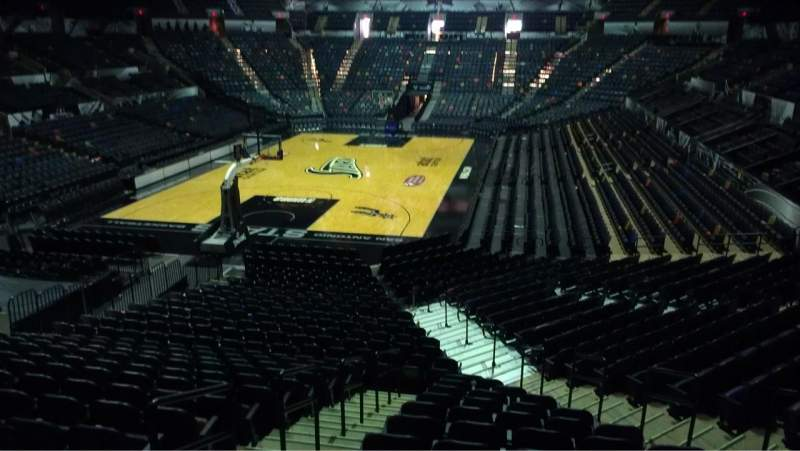 Seating view for AT&T Center Section 111 Row 22 Seat 5