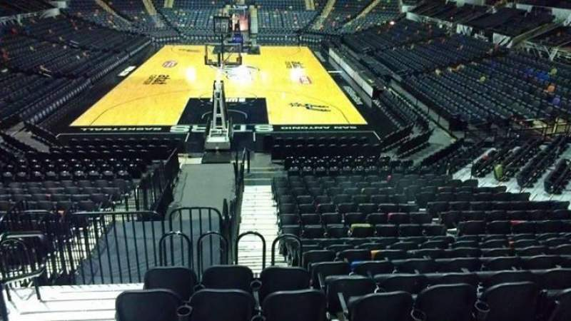 Seating view for AT&T Center Section 114 Row 18 Seat 3