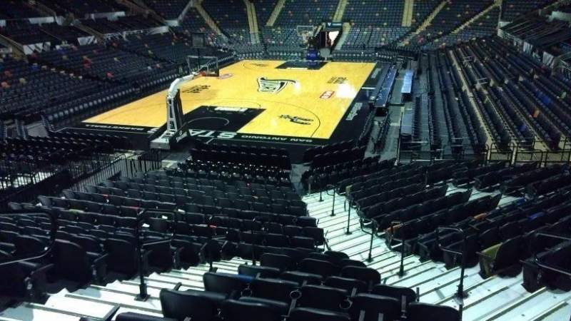 Seating view for AT&T Center Section 113 Row 18 Seat 5