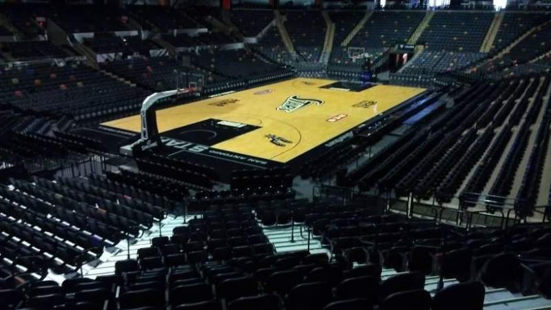 Seating view for AT&T Center Section 112 Row 18 Seat 6