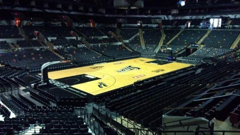 Seating view for AT&T Center Section 112 Row 14 Seat 8