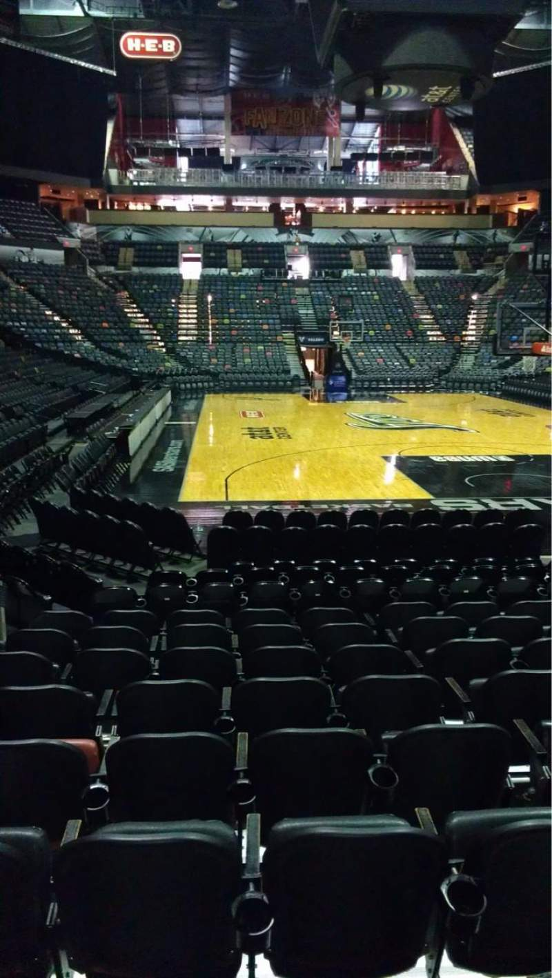 Seating view for AT&T Center Section 128 Row 12 Seat 4