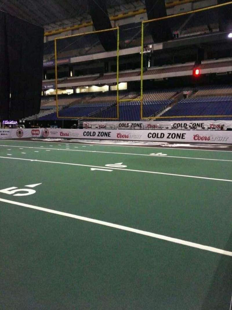Seating view for Alamodome Section 142 Row Floor Seat 8