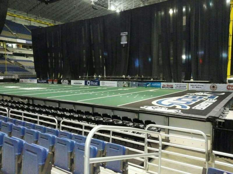 Seating view for Alamodome Section 141 Row 6 Seat 12