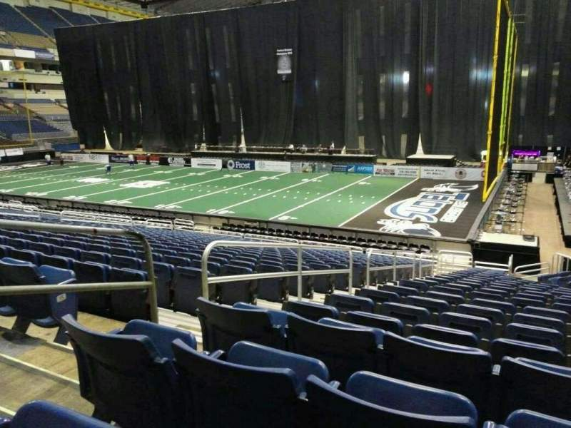 Seating view for Alamodome Section 142 Row 18 Seat 12