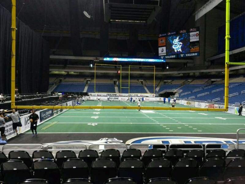Seating view for Alamodome Section 109 Row R1 Seat 8