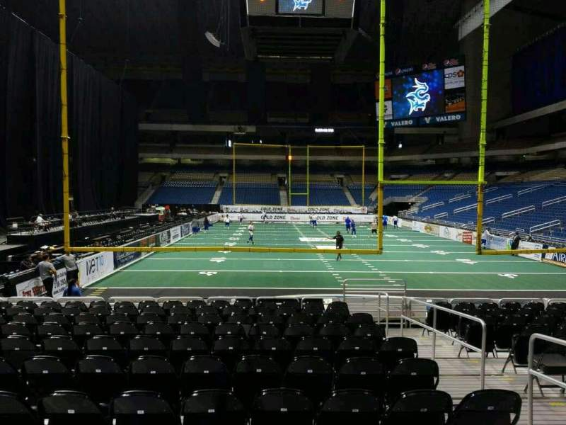 Seating view for Alamodome Section 109 Row 14 Seat 2