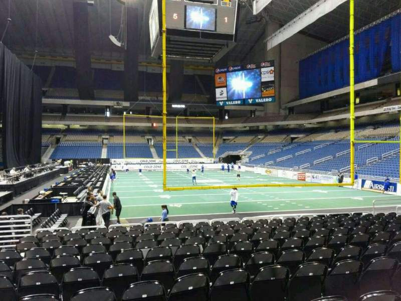 Seating view for Alamodome Section 109 Row 8 Seat 12