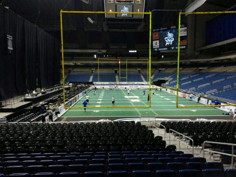 Seating view for Alamodome Section 109 Row 14 Seat 6