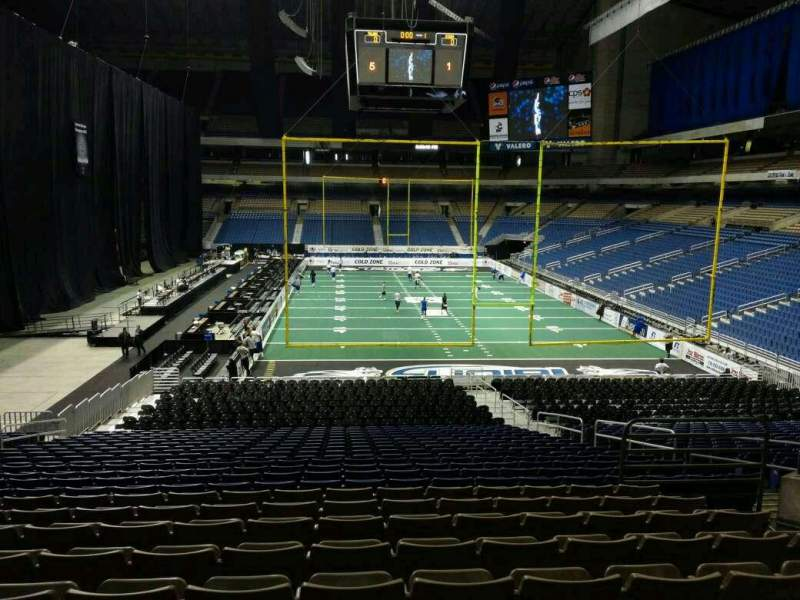 Seating view for Alamodome Section 109 Row 22 Seat 8
