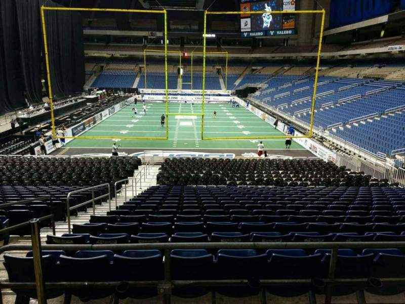 Seating view for Alamodome Section 108 Row 28 Seat 4