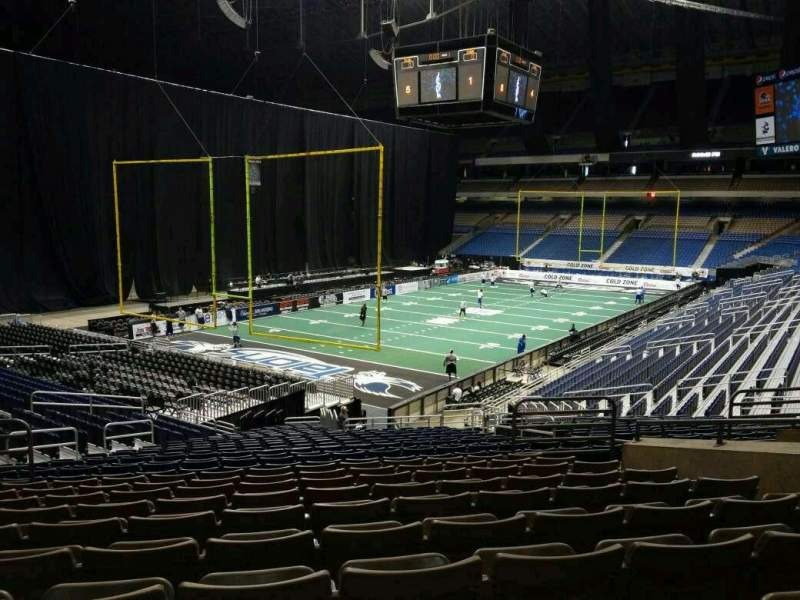 Seating view for Alamodome Section 107 Row 22 Seat 28