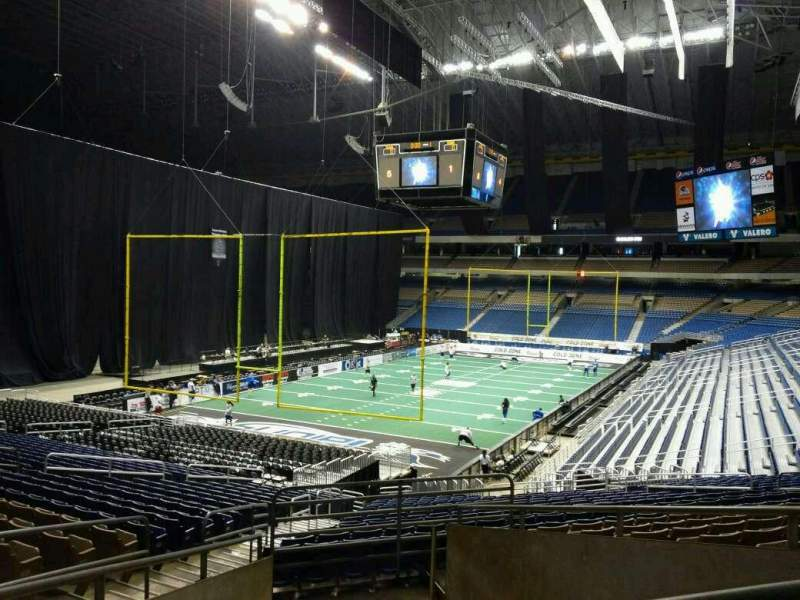Seating view for Alamodome Section 107 Row 24 Seat 20