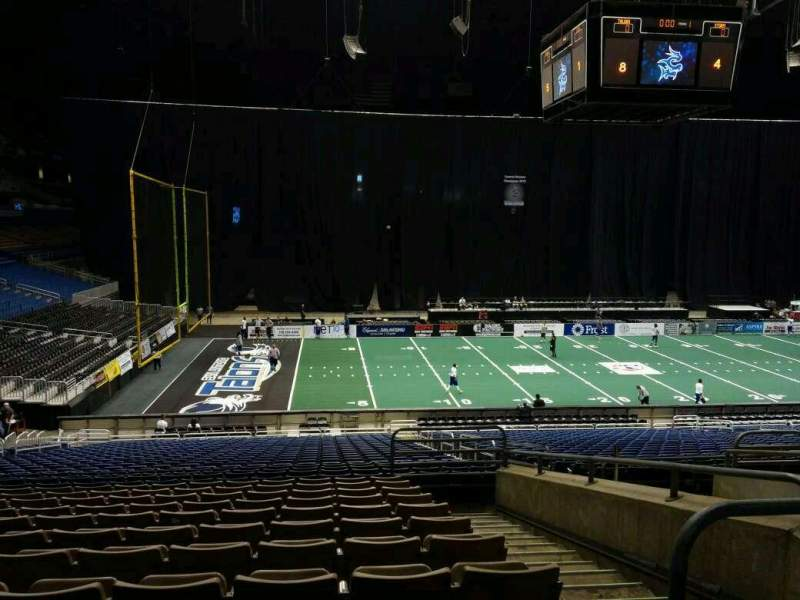 Seating view for Alamodome Section 103 Row 26 Seat 2